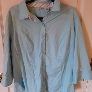 Riders  Long Sleeve Button Up with collar 2x